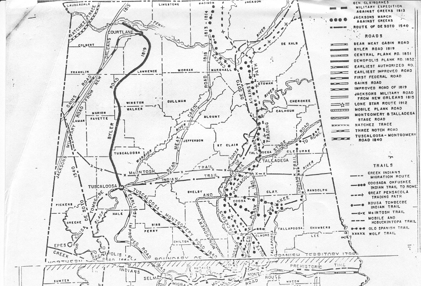 Byler Road - Road map of alabama